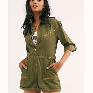 NEW Free People Green Isla Romper 8